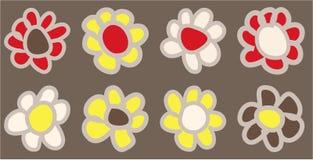 Hand drawn vintage coloured daisies. Hand drawn vintage colored daisies stock illustration