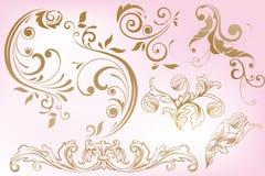 Hand drawn vintage design elements Royalty Free Stock Image