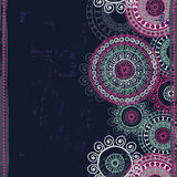 Hand drawn  vintage ethnic seamless border Royalty Free Stock Images