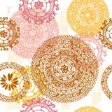 Hand drawn  vintage  ethnic seamless pattern Stock Photos