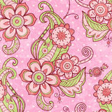 Hand drawn vintage floral background Stock Photo