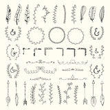 Hand drawn vintage floral elements. Weddings, Valentines day, bi Stock Images