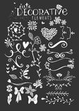 Hand Drawn Vintage Floral Illustration Royalty Free Stock Images