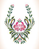Hand drawn vintage floral ornament. Royalty Free Stock Image