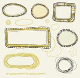 Hand drawn vintage frames Stock Image