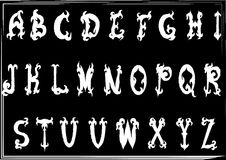 Hand-drawn vintage gothic styled abc letters Royalty Free Stock Photography
