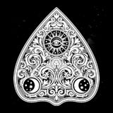 Hand drawn vintage magic Ouija board oracle. Royalty Free Stock Photography