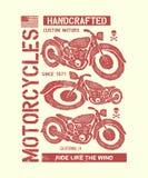 Hand drawn vintage motorcycle Stock Image