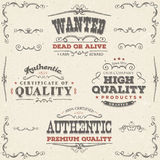 Hand Drawn Vintage Quality Banners And Labels Royalty Free Stock Image