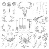 Hand drawn vintage rustic tribal collection Royalty Free Stock Photo