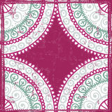 Hand drawn  vintage shabby lace ethnic frame Royalty Free Stock Images