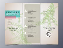 Hand drawn vintage style brochure template Royalty Free Stock Photography