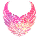 Hand drawn vintage wings. Royalty Free Stock Photography