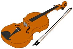Hand Drawn Violin Royalty Free Stock Image
