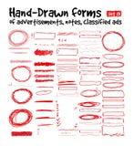 Hand-drawn vormen Royalty-vrije Stock Afbeeldingen