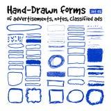 Hand-drawn vormen Stock Afbeeldingen