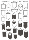 Hand Drawn Wall Banners Vector Design Elements Stock Images