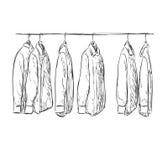 Hand drawn wardrobe sketch. Mans shirt Royalty Free Stock Image