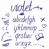 Hand drawn watercolor artistic font Royalty Free Stock Photography