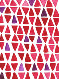 Hand drawn watercolor background with triangles Stock Image