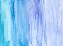 Hand drawn watercolor blue background. Absract background Stock Images