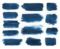 Hand drawn watercolor brush stokes. Stock Photography