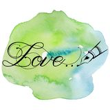 Hand drawn watercolor with calligraphy text Love... Valentines day, wedding, dating and other and other romantic events. Vector illustration Stock Images