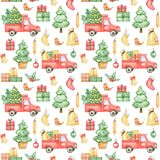 Watercolor New Year 2021 pattern, Merry Christmas background, hand painted christmas pattern, winter textile pattern design