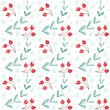 Watercolor Christmas Semaless Pattern Background vector illustration
