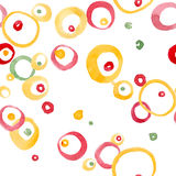 Hand Drawn Watercolor Circles seamless pattern. Stock Photo