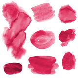 Hand drawn watercolor elements set Stock Photography