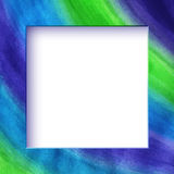 Hand drawn watercolor flat simple frame Royalty Free Stock Photo