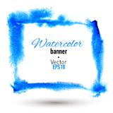 Hand drawn watercolor frame. Vector illustration. Stock Photography