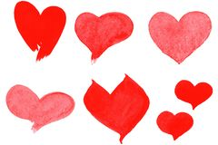 Hearts set royalty free illustration