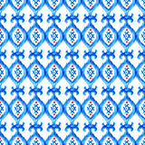 Hand drawn watercolor ikat seamless ornament Royalty Free Stock Photography