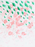 Hand drawn watercolor illustration of pink flowers Royalty Free Stock Photography