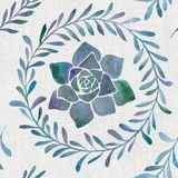 Watercolor botanical natural seamless pattern royalty free illustration