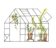 Free Hand Drawn Watercolor Illustration - Greenhouse With Plants, Greenery, Leaves And Pots. Grow And Plant. Eco, Farm, Nature. Perfect Royalty Free Stock Images - 216812639