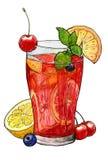 Cold summer cocktail stock illustration