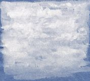 Abstract Watercolor White Background on Blue Shabby Paper