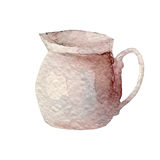Hand drawn watercolor jug on white background. Kitchen tools series Royalty Free Stock Images