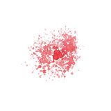 Hand drawn watercolor paint red splatter Royalty Free Stock Photo