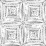 Hand drawn watercolor pencil woven seamless pattern for fabric.  Royalty Free Stock Photos