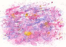 Hand drawn watercolor pink blue background. Abstract background Stock Photo