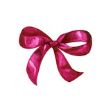 Hand drawn watercolor pink bow Stock Images