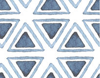 Hand drawn watercolor seamless pattern Stock Image
