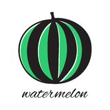 Hand drawn watermelon in doodle style. Vector. Illustration. Sketch Stock Photo