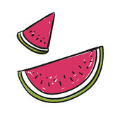 Hand Drawn Watermelon Stock Photos