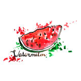 Hand drawn watermelon Royalty Free Stock Images