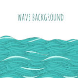 Hand drawn waves Stock Photo